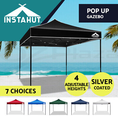 AU94.90 • Buy Instahut Gazebo Pop Up Outdoor Marquee 3x3m Wedding Folding Gazebos Tent Camping