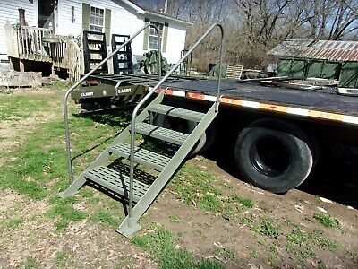 $255 • Buy Military Surplus Mobile Field Kitchen Trailer Mkt Tent Stair -steps- Ladder Army