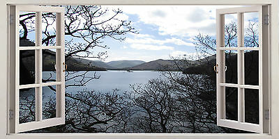 Ulswater Lake District Uk Scene  3D Effect Window Canvas Picture Wall Art Prints • 19.99£