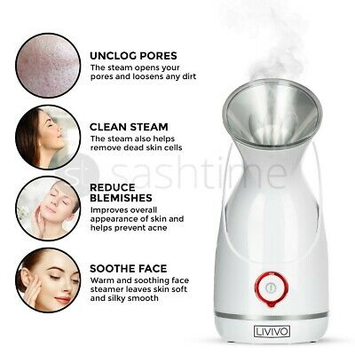 Face Facial Digital Steamer Spa Pores Steam Sprayer Skin Clean Beauty Sauna Mist • 16.95£
