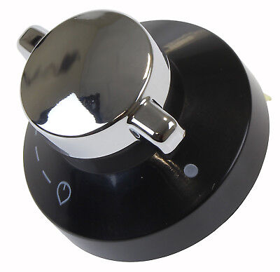 Oven Gas Control Knob Hob Cooker Flame Switch Chrome Black Silver For New World • 5.99£