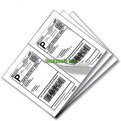 $32.95 • Buy 1000 Self Adhesive Mailing Shipping Labels 8.5 X5.5  Paypal EBay USPS UPS FedEx