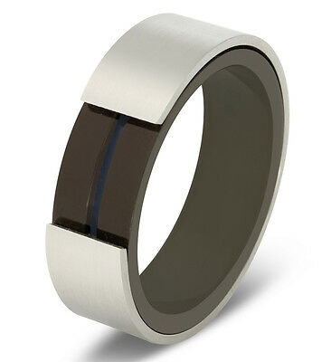 $5.99 • Buy Rotating Grooved Center Brushed Stainless Steel Spinner Band Ring Comfort Fit
