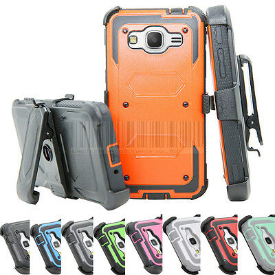 $ CDN10.14 • Buy Shockproof Rugged Hybrid Hard Case Protective Cover Clip Holster For Samsung