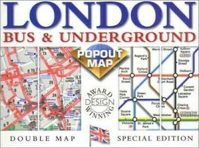 £4.49 • Buy London Bus/Underground (Popout Maps Double) By Compass Maps Sheet Map Book The