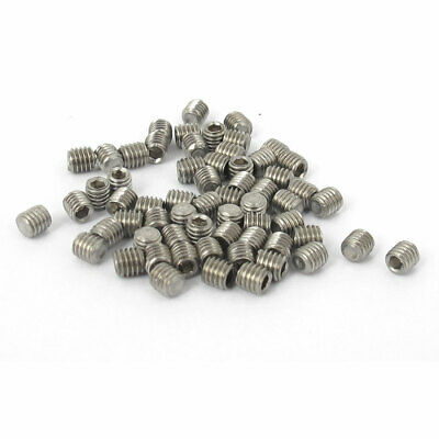 $8.68 • Buy M3x3mm Stainless Steel Hex Socket Set Cup Point Grub Screws Silver Tone 50pcs