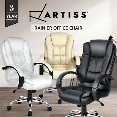 AU179.90 • Buy Artiss Office Chair Computer Executive Chairs PU Leather Work Seat Black White