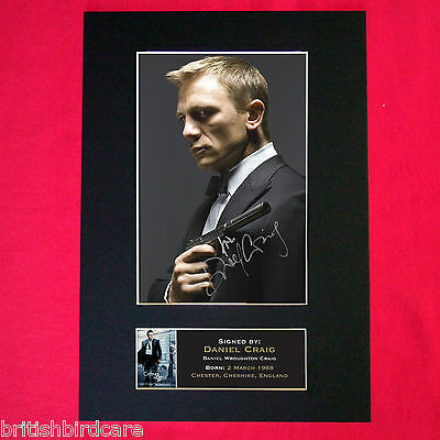 £17.99 • Buy DANIEL CRAIG Signed Reproduction Autograph Mounted Photo Print A4 26