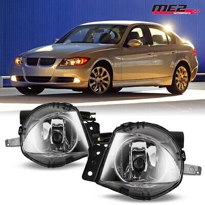 $26.49 • Buy For 2006-2008 BMW E90 3 Series PAIR OE Factory Fit Fog Light Bumper Clear Lens