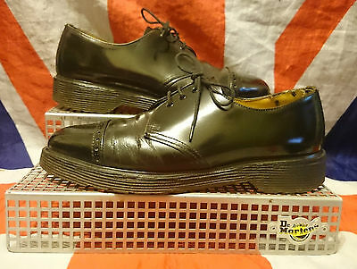 England Vintage*Black Brogue Dr Doc Martens Shoes*Skingirl*Steampunk*Goth*Punk*6 • 66.99£