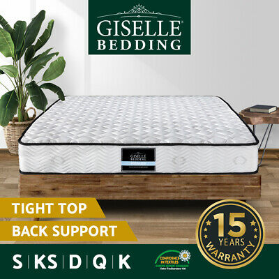 AU139 • Buy Giselle Bedding Mattress QUEEN DOUBLE SINGLE Extra Firm Bed Pocket Spring Foam