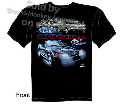 £17.86 • Buy Mustang T Shirts Ford Shirt Mustang Apparel Muscle Car Clothing Blue Oval Tee