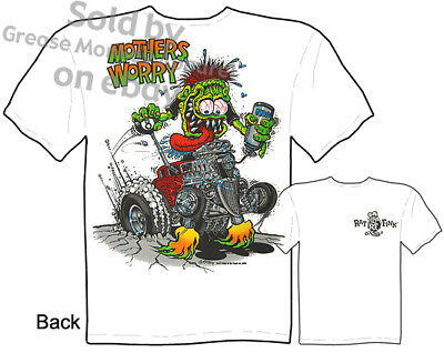 £21.98 • Buy Ratfink T Shirts Hot Rod Clothes Worry Ed Roth Tee Big Daddy Clothing 33 34 Ford
