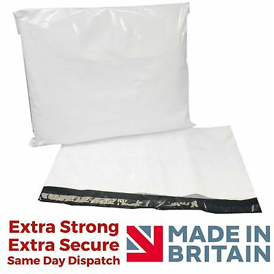 White Premium Strong Mailing Bags Sacks Extra Plastic Polythene Courier Postage • 6.82£