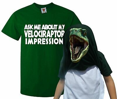 Ask Me About My Velociraptor Flip T-Shirt - Funny T Shirt Raptor Dinosaur Joke • 9.99£