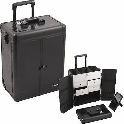 $139.99 • Buy Professional Rolling Makeup Case 2 Wheels, 4 Drawers Cosmetic Trolley By Sunrise