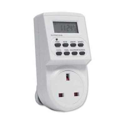 7 Day Energy Saving Electronic LCD Plug In Digital Electric Timer Socket Switch • 7.95£