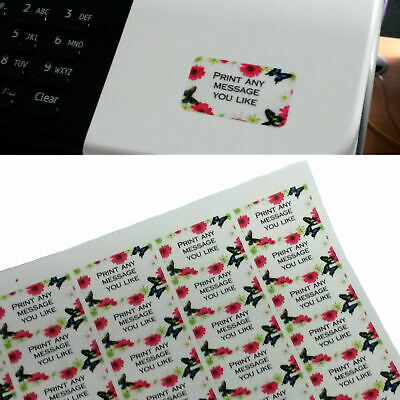 £5.49 • Buy Personalised Mini Transparent Clear Colour Stickers/Address Labels -65 Per Sheet