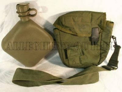 $ CDN21.50 • Buy New 2 Qt OD Collapsible Canteen W/ Used 2 Qt OD Canteen Cover US Military Issue