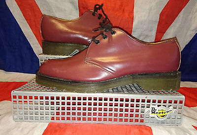 England Vintage*Oxblood Cherry Red Hawkins 3 Eye Shoes*Skingirl Skinhead Punk*6 • 79.99£