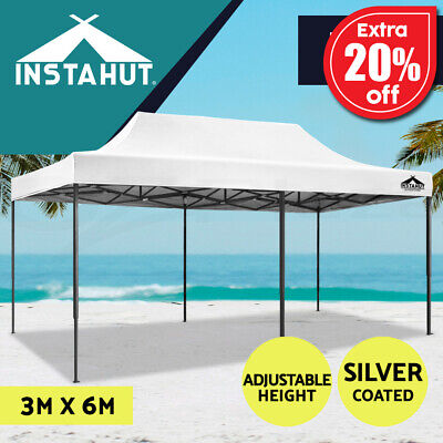 AU179.90 • Buy Instahut Gazebo Pop Up Marquee 3x6 Outdoor Tent Folding Wedding Gazebos Tent