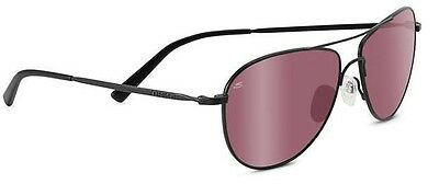 $170.38 • Buy Serengeti Alghero Satin Black Polarized Sedona Bi Mirror Lens Sunglasses 8441