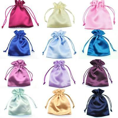 £6.29 • Buy Silky Satin Wedding Favour Gift Bags Drawstring Jewellery Pouches Wholesale UK