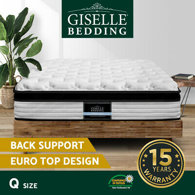 AU259.90 • Buy Giselle Bedding QUEEN Size Bed Mattress Euro Top Pocket Spring Foam 31cm