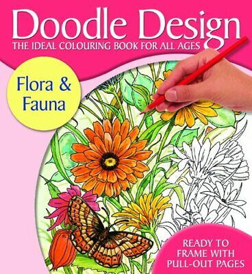 £3.99 • Buy Doodle Design Flora & Fauna Book The Cheap Fast Free Post