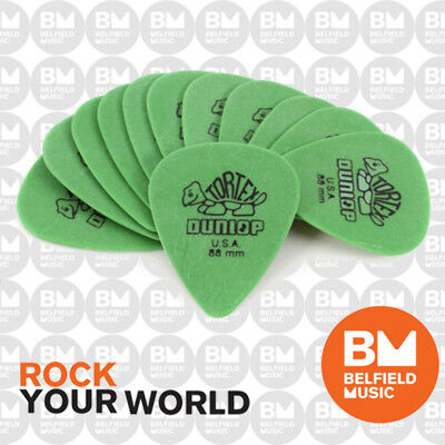 AU11.50 • Buy Jim Dunlop Guitar Picks Players .88m Tortex Standard Qty 12 Pick Pack - Green