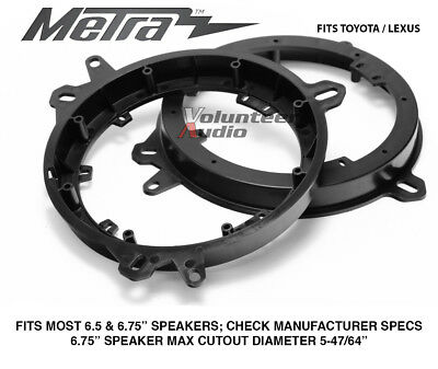 $13.60 • Buy Metra 82-8148 6  To 6.75 Front Speaker Adapters For Lexus & Toyota Models