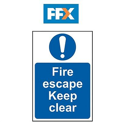 Scan SCA0158 Fire Escape Keep Clear Sign - PVC 200 X 300mm • 8.35£