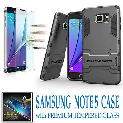 $ CDN13.29 • Buy For Samsung Galaxy S5 S6 S7 Edge Plus Note 4 5 Shockproof KickStand Case + Films