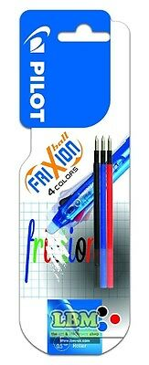 Pilot Frixion 05 Refills For 4 Colour Multi Ball Pen LFB TRF 05 (Carded 3) • 4.99£