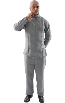 AU49.90 • Buy Orion Costumes Mens Dr Evil Villain 70s Austin Powers Grey Suit Film Fancy Dress