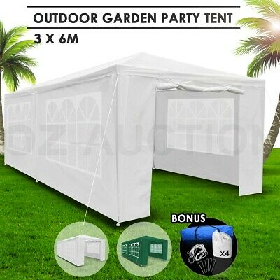AU169.95 • Buy 3x6m Gazebo Waterproof Outdoor Wedding Party Marquee Tent Camping White Walled