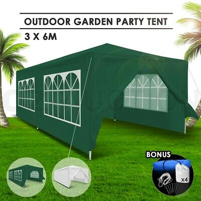 AU119.95 • Buy 3x6m Gazebo Folding Event Tent Outdoor Wedding Party Waterproof Marquee Green