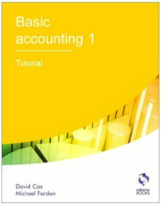 Basic Accounting 1 Tutorial (AAT Accounting - Le... By Fardon, Michael Paperback • 8.99£