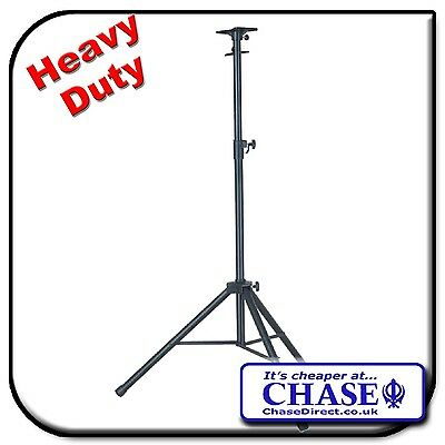 £26.99 • Buy Chase Speaker Stand CSS-80 Height Adjustable Black Tripod Universal Mount Plate