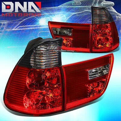 $95.76 • Buy Smoked Housing Lens Red Led Tail Brake Signal Lights/lamps For E53 00-06 Bmw X5