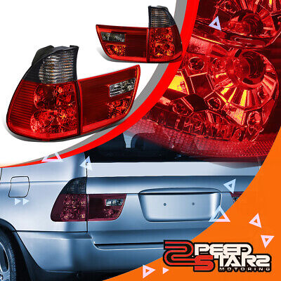 $107.97 • Buy For E53 00-06 Bmw X5 Smoked Tinted Lens Housing Red Led Brake Tail Lights/lamps