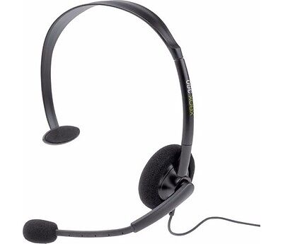 £4.97 • Buy GAMING HEADSET XBOX 360 Official Microsoft Xbox Live Black Chat * NEW