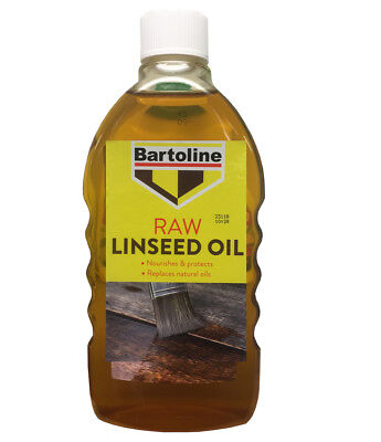 Bartoline Raw Linseed Oil 500ml Replaces Natural Oils For Inside Or Outside Use • 6.48£