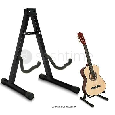 £7.95 • Buy Folding Metal Guitar Stand Music Electric Acoustic Free Standing A Frame Stand