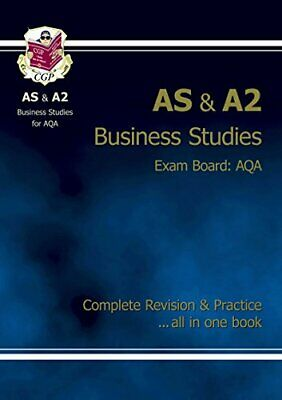 AS/A2 Level Business Studies AQA Complete Revision & P... By CGP Books Paperback • 5.49£