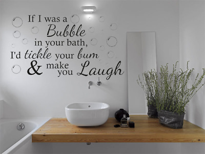 Funny Wall Quote If I Was A Bubble...Bathroom Wall Art Sticker Quote Vinyl Decal • 11.95£