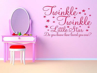 £14.95 • Buy Child's Or Nursery  Twinkle Twinkle Little Star Wall Quote, Wall Sticker, Decal.