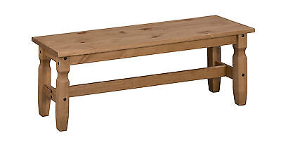 Corona 4'0  Dining Bench Mexican Solid Pine Long Seat By Mercers Furniture® • 54.99£