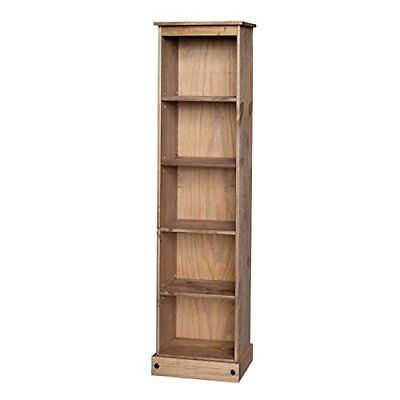 £59.99 • Buy Corona Bookcase Tall Narrow Large Display Mexican Pine By Mercers Furniture