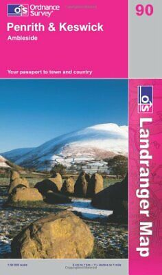 Penrith And Keswick, Ambleside (Landrang... By Ordnance Survey Sheet Map, Folded • 6.09£